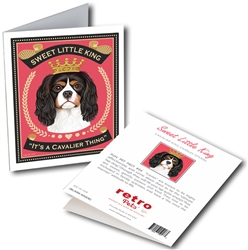"""Sweet Little King (Cavalier King Charles Spaniel) GREETING CARD - """"It's a Cavalier Thing"""""""