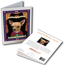 San Canine de Chihuahua (Chihuahua) GREETING CARD - Patron Saint of the Napoleonic Complex