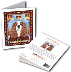 San King Charles Spaniel de Cavalier GREETING CARD - Patron Saint of Royalty