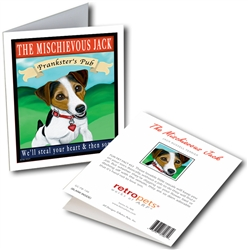 Jack Russell Terrier - Mischievous Jack Tavern GREETING CARDS - 6 Cards