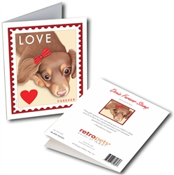 Dachshund - Doxie Love GREETING CARDS - 6 Cards