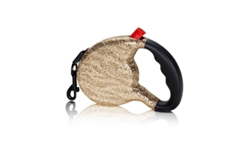 """The Executive"" Gold Zebra 4ever glam Retractable Leash"