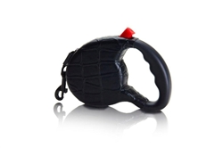 """The Executive"" Black Crocodile Retractable Leash"