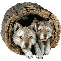 Sandicast Forever Friends Gray Wolf Pups