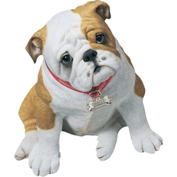 Sandicast Life Size Fawn Bulldog Pup