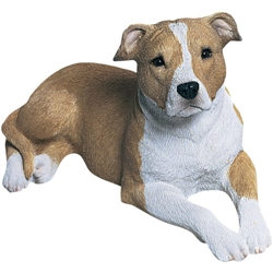 Sandicast Mid Size Fawn Pit Bull Terrier