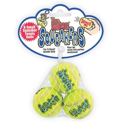 Air Kong Squeaker Tennis Balls - Small