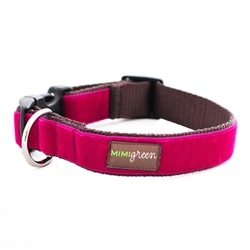 'Bettie' Pink Velvet Collars & Leashes