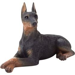 Sandicast Small Size Black Doberman Pinscher