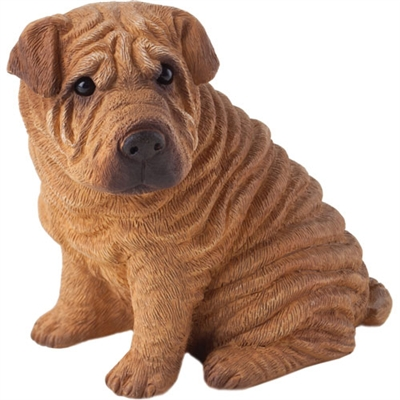 Sandicast Small Size Red Chinese Shar-Pei