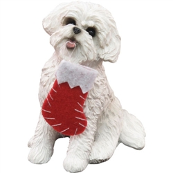 Sandicast Bichon Frise Christmas Tree Ornament