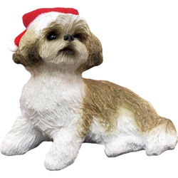 Sandicast Gold Shih Tzu Christmas Tree Ornament