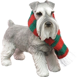 Sandicast Gray Schnauzer Christmas Tree Ornament