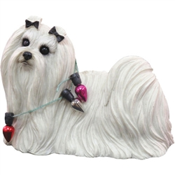Sandicast Maltese Christmas Tree Ornament