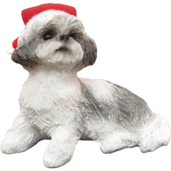 Sandicast Silver Shih Tzu Christmas Tree Ornament