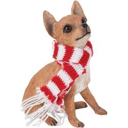 Sandicast Tan Chihuahua Christmas Tree Ornament
