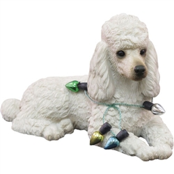 Sandicast White Poodle Christmas Tree Ornament