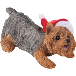 Sandicast Yorkshire Terrier Christmas Tree Ornament