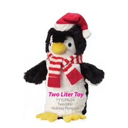 Soda Pop Critters - Plush 2L Bottle Toy - Christmas Penguin