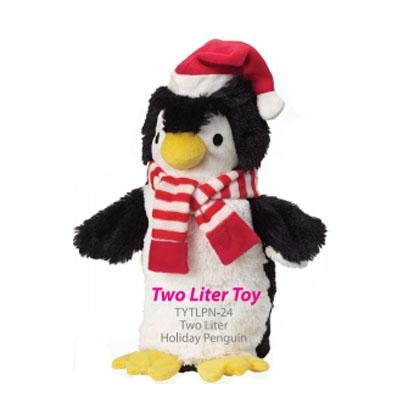 Soda Pop Critters - Plush 2L Bottle Toy - Christmas Penguin