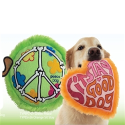 Toy Plush Pillow Green Peace Dog