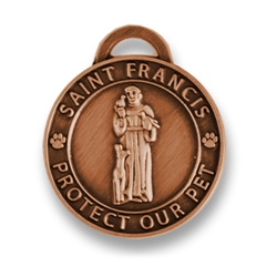 Large Antique Copper/ St. Francis Medallion