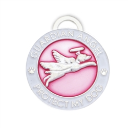Pink Guardian Angel Dog Charm