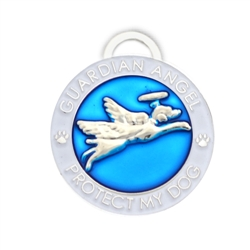 Blue Guardian Angel Dog Charm