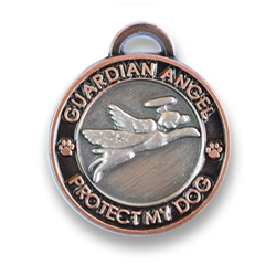 Antique Silver/Gold Guardian Angel Dog Charm