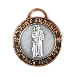 Small Antique 2-Toned (Gold/silver) St. Francis Medallion
