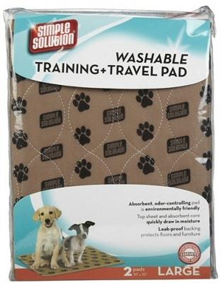 "Washable Training & Travel Pad - 2 Large Pads (30"" x 32"")"