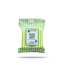 earthbath® Facial Wipes, Hypo-Allergenic Cucumber Melon for Dogs, Cats, Puppies & Kittens, 25 ct re-sealable package