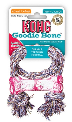 Puppy Kong® Goodie Bone with Rope XS
