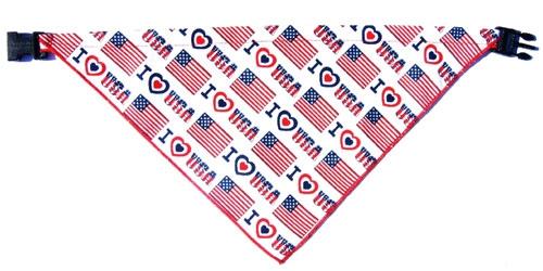 I Love USA Bandana