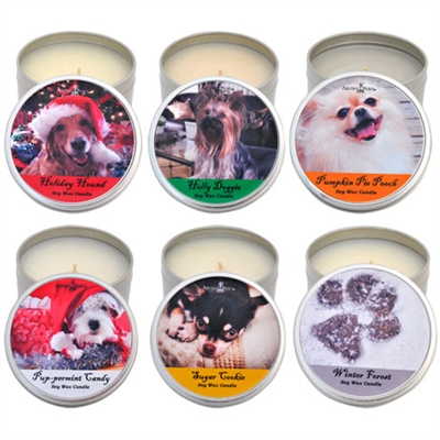 Holiday Candle Tins