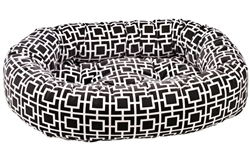 Donut Bed Courtyard Grey Microvelvet