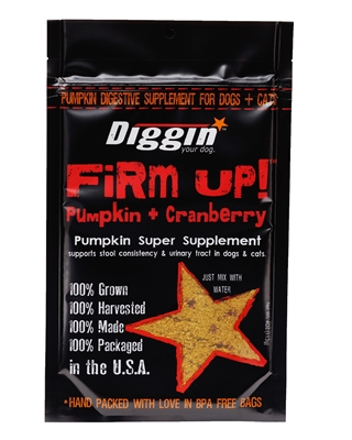 FiRM UP! Pumpkin Super Supplement for Digestive Tract Health + Cranberry for Urinary Tract Health for Dogs and Cats, 4oz