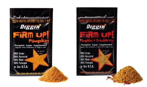 FiRM UP! Pumpkin Supplement & FiRM UP! + Cranberry for Dogs and Cats, 4oz (Mixed Case)