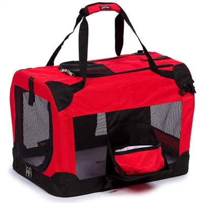 360 Vista View Travel Pet  Crate With Removable Bowl And Trey