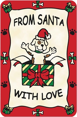 """""""From Santa with Love"""" Crunch Card for Dogs"""