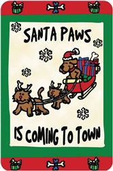 """Santa Paws is Coming to Town"" Crunch Card"