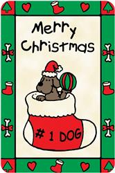 """#1 Dog- Merry Christmas"" Crunch Card  for Dogs"