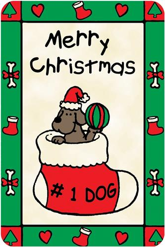 """""""#1 Dog- Merry Christmas"""" Crunch Card  for Dogs"""