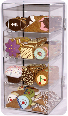 Empty 10 SKU Custom Acrylic Bakery Case