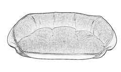 Crescent Bed / Rev Lounger (Bolster) Replacement