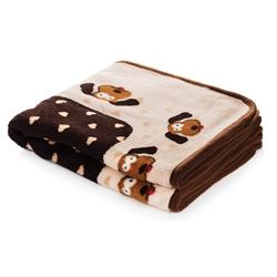 Snuggle Puppy Blanket - Cream/Brown