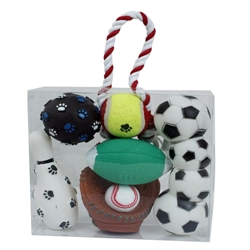 Sport Themed Pet Toy Gift Set