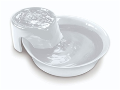Ceramic Drinking Fountain - Big Max Style - White color