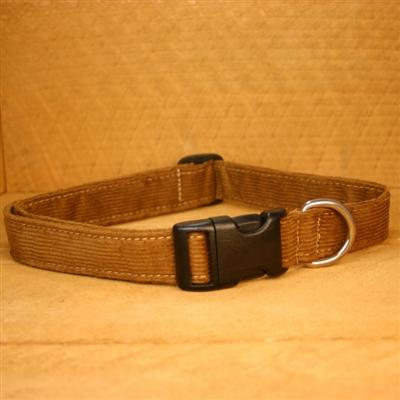 Bronze Hemp Corduroy Leashes, Collars, and Harnesses