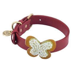 Butterfly Collars & Leashes - Red